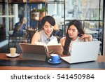 asian beautiful woman working... | Shutterstock . vector #541450984