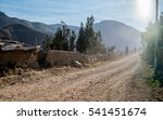 dusty road in andes mountains... | Shutterstock . vector #541451674