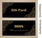 gift card template with... | Shutterstock .eps vector #541459054