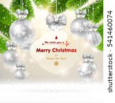 christmas background with a...   Shutterstock .eps vector #541460074