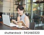 asian beautiful woman working... | Shutterstock . vector #541460320