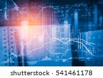 stock market or forex trading... | Shutterstock . vector #541461178