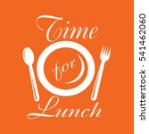 time for lunch. | Shutterstock .eps vector #541462060