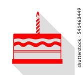 birthday cake sign. red icon... | Shutterstock .eps vector #541463449