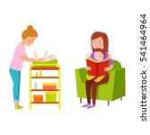 young mother vector characters. | Shutterstock .eps vector #541464964
