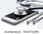 diagnostic of gadgets on white... | Shutterstock . vector #541471090