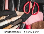 cobbler tools in workshop dark... | Shutterstock . vector #541471144