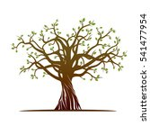 color tree. vector illustration | Shutterstock .eps vector #541477954