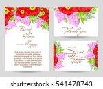 vintage delicate invitation...   Shutterstock . vector #541478743