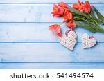 Two Decorative Hearts And...