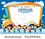 certificate template with... | Shutterstock .eps vector #541494964