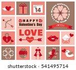 valentine icon set | Shutterstock .eps vector #541495714