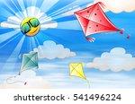 kites flying in the sky...
