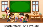 many children learning in... | Shutterstock .eps vector #541496230