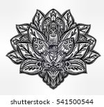 vector ornamental lotus flower  ... | Shutterstock .eps vector #541500544