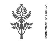 abstract foliate element. ... | Shutterstock .eps vector #541501264