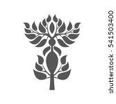 abstract foliate element. ... | Shutterstock .eps vector #541503400
