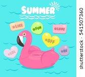 Flamingo Pool Float With Pool...