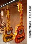 colorful latin american guitars - stock photo
