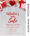 valentine's day sale flyer. top ... | Shutterstock .eps vector #541514668