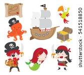 cute vector illustration of... | Shutterstock .eps vector #541518850