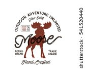 outdoor adventure label.... | Shutterstock .eps vector #541520440