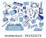 set of music instrument in...   Shutterstock .eps vector #541523173