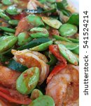 Small photo of sator bean stir with shrimp and hot chili paste