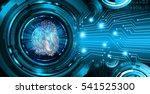 dark blue abstract digital... | Shutterstock . vector #541525300