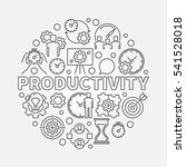 productivity line round... | Shutterstock .eps vector #541528018