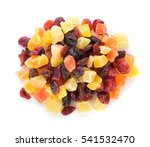 dried fruits isolated on white | Shutterstock . vector #541532470