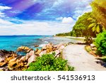 tropical island. the seychelles.... | Shutterstock . vector #541536913