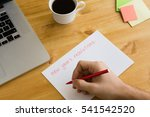 new year's resolutions on the... | Shutterstock . vector #541542520