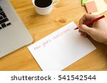 new year's resolutions on the... | Shutterstock . vector #541542544