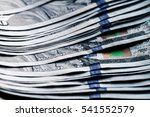 money on a wooden background.... | Shutterstock . vector #541552579
