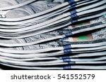 money on a wooden background.... | Shutterstock . vector #541552579