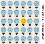 background of cartoon bulbs... | Shutterstock .eps vector #541554388
