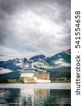 cruise ship at port in juneau ... | Shutterstock . vector #541554658