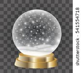 christmas snow globe isolated... | Shutterstock .eps vector #541554718