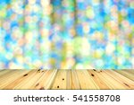 wooden floor blur background  | Shutterstock . vector #541558708