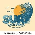 surf. surfer and big wave. surf ... | Shutterstock .eps vector #541563316