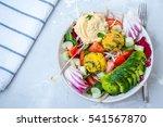 vegan salad with falafel ... | Shutterstock . vector #541567870