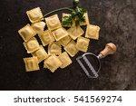 fresh ravioli | Shutterstock . vector #541569274