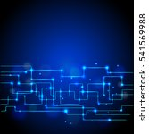 abstract vector technology... | Shutterstock .eps vector #541569988