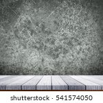 soft white wooden shelf on... | Shutterstock . vector #541574050