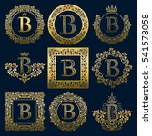 vintage monograms set of b... | Shutterstock .eps vector #541578058