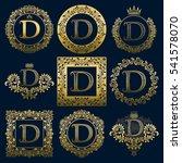 vintage monograms set of d... | Shutterstock .eps vector #541578070