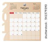 2017 calendar planner design ... | Shutterstock .eps vector #541579390
