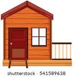 wooden house with one door and... | Shutterstock .eps vector #541589638