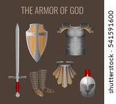 armor of god collection of... | Shutterstock .eps vector #541591600